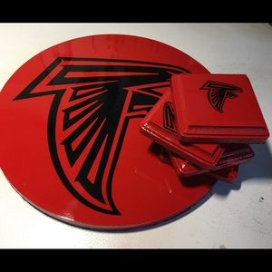 Hand made Serving tray/ 4 Coasters
